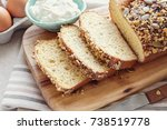 healthy almond bread  keto ... | Shutterstock . vector #738519778