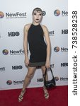 Small photo of New York, NY - October 19, 2017: Gia Garrison attends Susanne Bartsch: On Top premiere at NewFest at SVA theater
