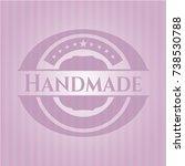 handmade pink emblem. retro | Shutterstock .eps vector #738530788