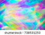 hippie psychedelic vivid neon... | Shutterstock . vector #738531253