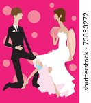 a groom formally taking off his ...   Shutterstock .eps vector #73853272