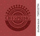 offspring vintage red emblem | Shutterstock .eps vector #738533794