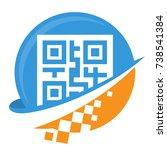 icon logo for digital business  ... | Shutterstock .eps vector #738541384