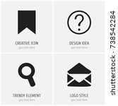 set of 4 editable web icons....