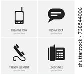 set of 4 editable device icons. ...