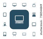 set of 13 editable gadget icons....