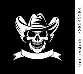 skull logo mascot icon vector...   Shutterstock .eps vector #738545584