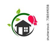 beautiful house logo | Shutterstock .eps vector #738549058