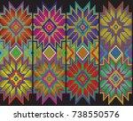 multicolor flowers | Shutterstock .eps vector #738550576