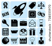 set of 22 business icons ...   Shutterstock .eps vector #738555970