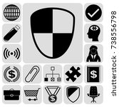 set of 17 business high quality ...   Shutterstock .eps vector #738556798