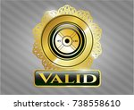 gold shiny badge with... | Shutterstock .eps vector #738558610