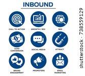solid inbound marketing vector... | Shutterstock .eps vector #738559129