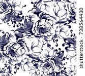 abstract elegance seamless... | Shutterstock .eps vector #738564430