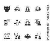 discussion icons | Shutterstock .eps vector #738567586