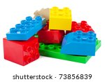 plastic building blocks... | Shutterstock . vector #73856839