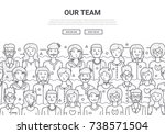 our team doodle background... | Shutterstock .eps vector #738571504