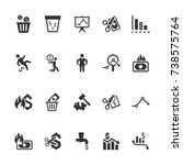 financial loss icons | Shutterstock .eps vector #738575764