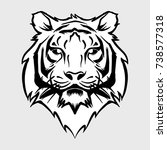 tiger head elegant black and... | Shutterstock .eps vector #738577318