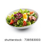 Salad Isolated On White. A Bow...