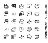message and communication icons | Shutterstock .eps vector #738588808