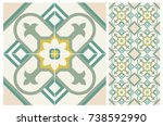 arabic patter style tiles for... | Shutterstock .eps vector #738592990