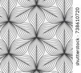linear vector pattern ... | Shutterstock .eps vector #738610720