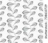 abstract leaf vector pattern ... | Shutterstock .eps vector #738610729