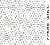 vector geometric pattern.... | Shutterstock .eps vector #738610768