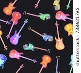 electro guitar flat design... | Shutterstock .eps vector #738621763