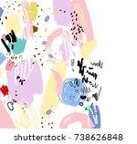 brush  marker  pencil stroke... | Shutterstock .eps vector #738626848
