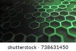 Green Abstract Hexagonal...