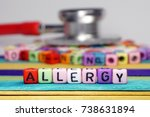 kids disease concept. colorful... | Shutterstock . vector #738631894