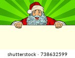 santa claus white background... | Shutterstock .eps vector #738632599