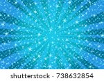 blue christmas background with... | Shutterstock .eps vector #738632854