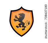 lion in shield logo vector | Shutterstock .eps vector #738637180