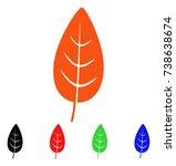 flora leaf icon. vector...   Shutterstock .eps vector #738638674