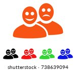 glad and sad people icon.... | Shutterstock .eps vector #738639094