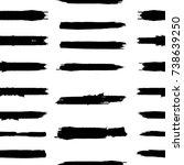 grunge paint stripe . vector... | Shutterstock .eps vector #738639250