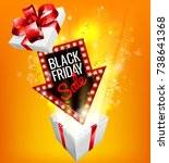 an exciting black friday sale...   Shutterstock .eps vector #738641368