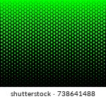 hexagon fade pattern green... | Shutterstock .eps vector #738641488