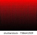 hexagon fade pattern red color...   Shutterstock .eps vector #738641509