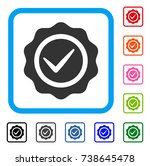 valid seal icon. flat gray... | Shutterstock .eps vector #738645478