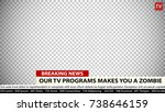 breaking news vector template.... | Shutterstock .eps vector #738646159