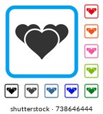 favourite hearts icon flat