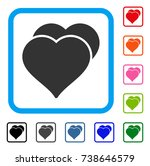 love hearts icon. flat grey... | Shutterstock .eps vector #738646579