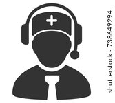 medical call center vector...   Shutterstock .eps vector #738649294