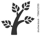 plant tree vector pictograph....   Shutterstock .eps vector #738651550