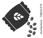 sow seed pack vector pictograph....   Shutterstock .eps vector #738651574
