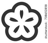 flower vector icon. style is...   Shutterstock .eps vector #738652858